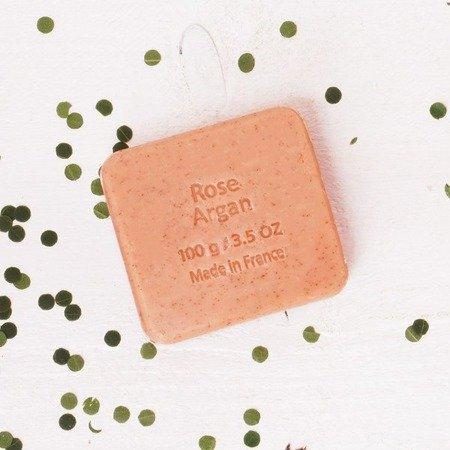 Mydło peelingujące z olejem arganowym RÓŻA