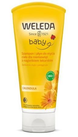 Szampon i płyn do mycia ciała z nagietkiem dla niemowląt